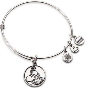 ALEX & ANI Silver Minnie Mouse Energy Bracelet